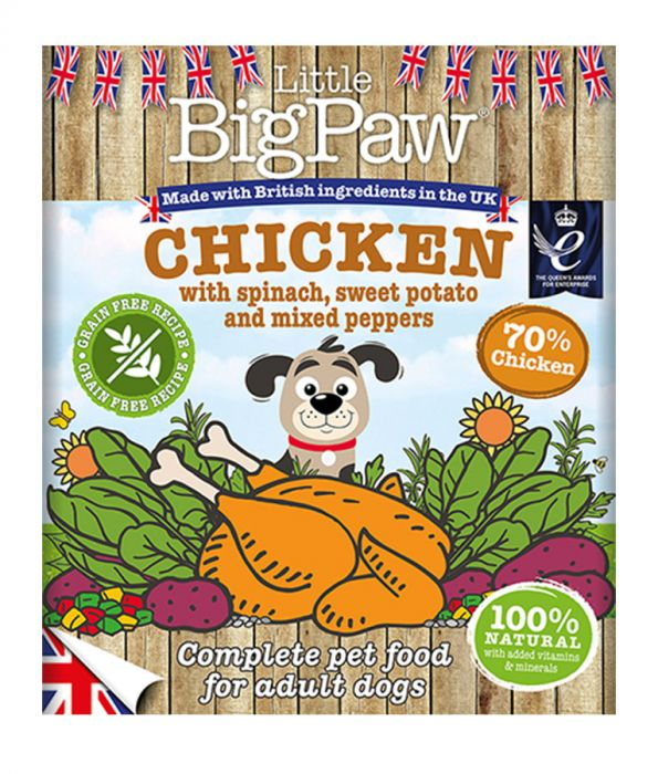 Little Big Paw - Chicken with Spinach (390g)