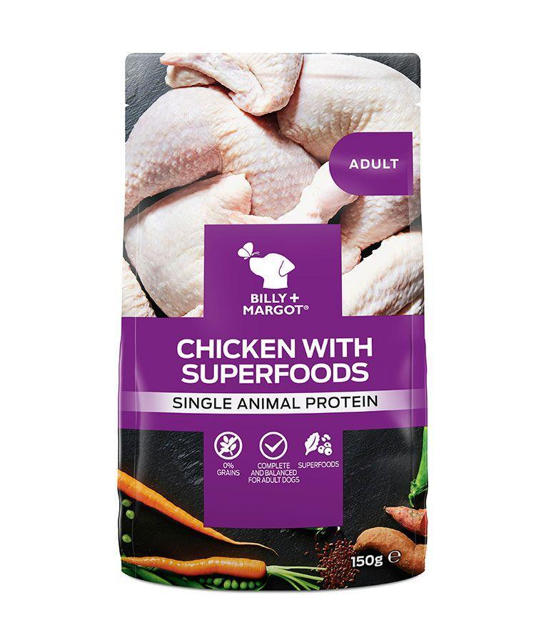 Billy & Margot - Adult Chicken with Superfoods Pouch (150g)