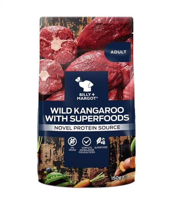 Billy & Margot - Adult Kangaroo with Superfoods Pouch (150g)