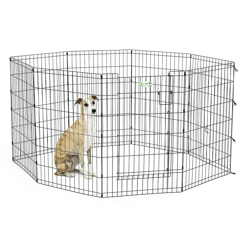 MidWest - Black Exercise Pen with Full MAX Lock Door