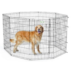 MidWest Black Exercise Pen with Full MAX Lock Door