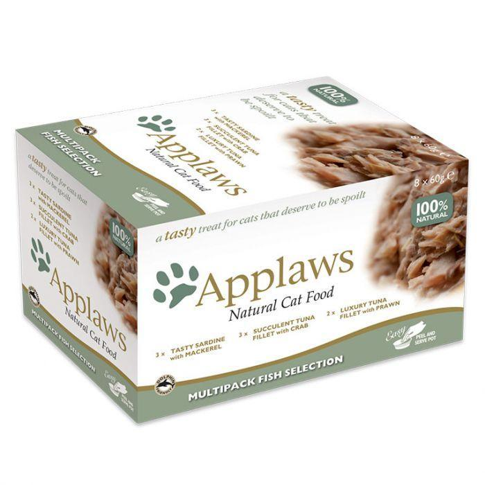 Applaws - Cat Multipack Fish Selection (8x60g) Pot