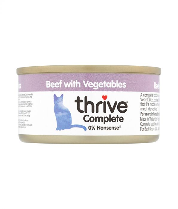 Thrive -  Complete Cat Beef with Vegetables Wet Food (75g)
