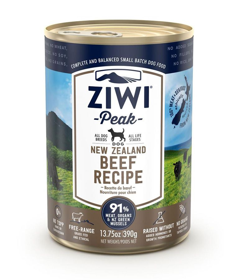 Ziwi Peak - Beef Recipe Canned Dog Food (390g)