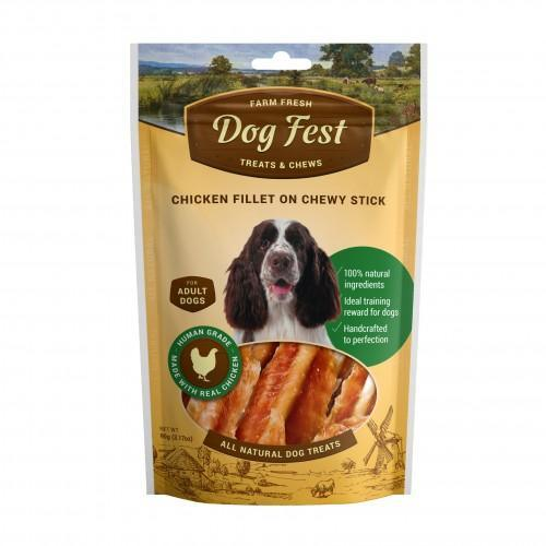 Dog Fest - Chicken fillet on a chewy stick for adult dogs  (90g)