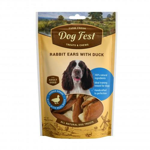 Dog Fest - Rabbit ears with duck for adult dogs (90g)  (3.17oz)