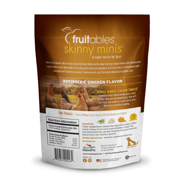 Fruitables - Skinny Minis Dog Treats Rotisserie Chicken (141gr)