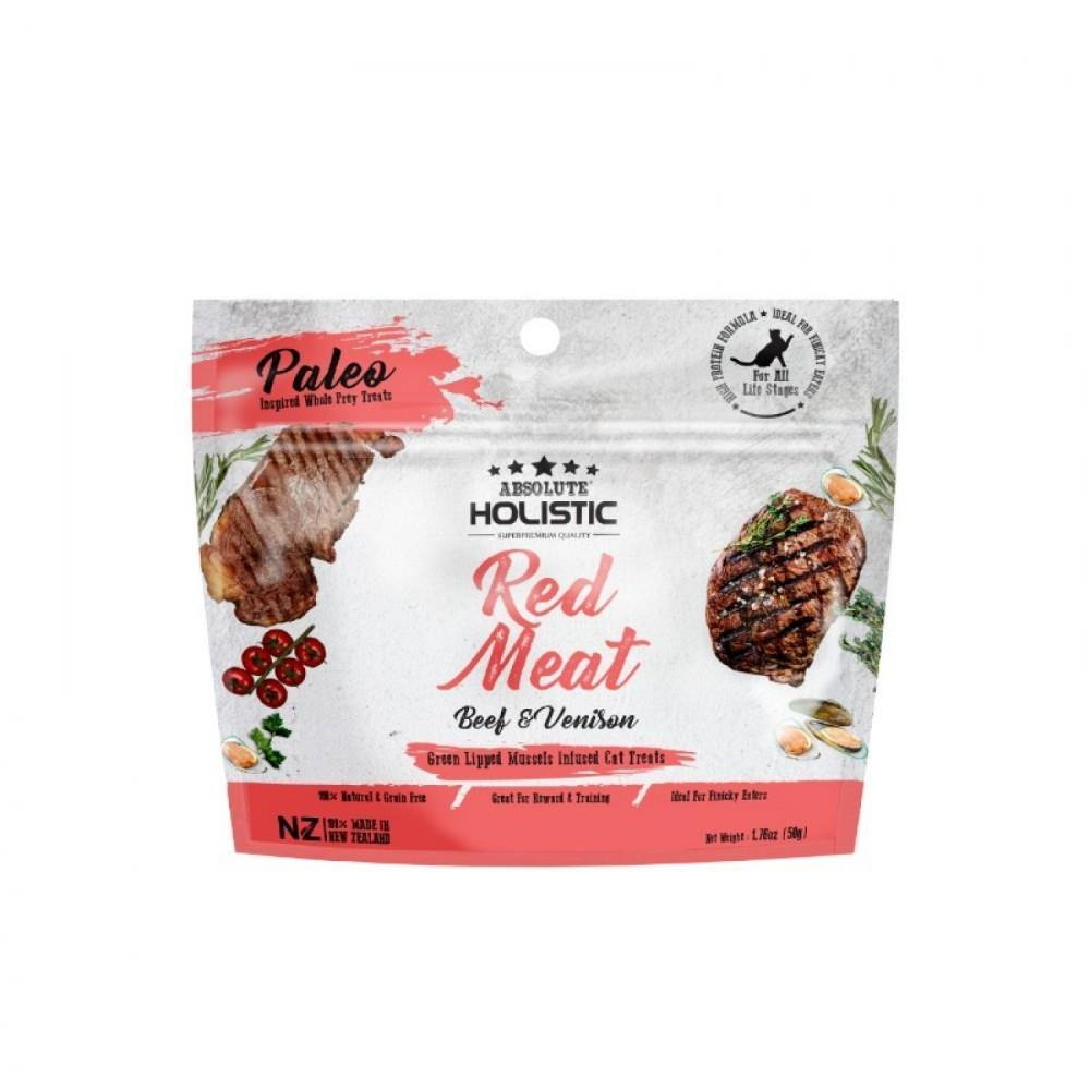 Absolute Holistic Air Dried Cat Treats - Red Meat (50g)