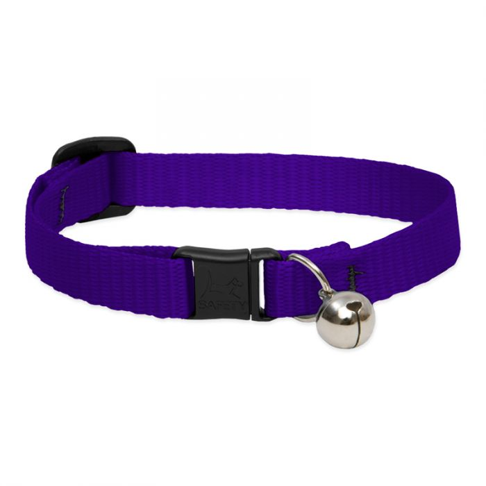 Lupine - Basic Solids Safety Cat Collar with Bell
