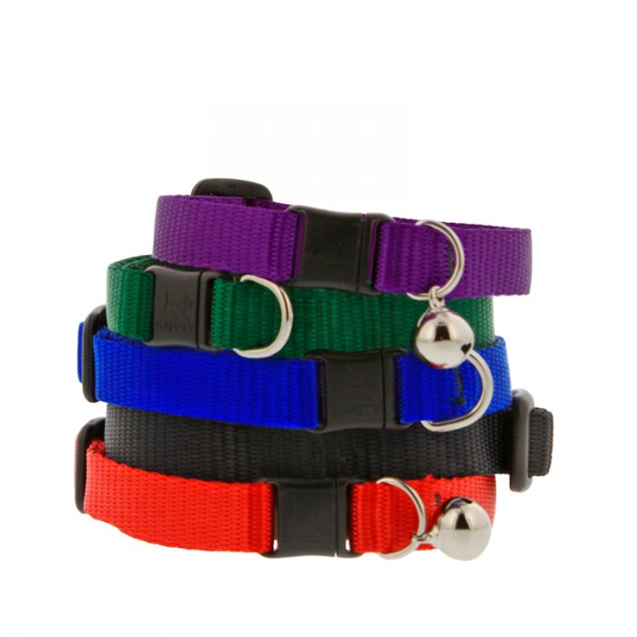 Basic Solids Safety Cat Collar with Bell