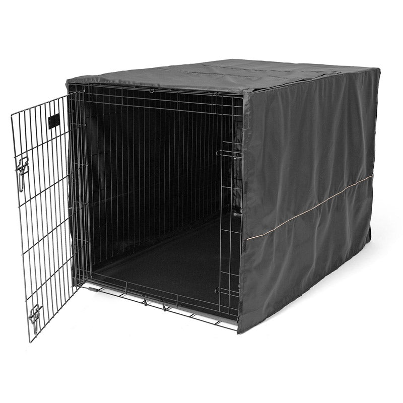 MidWest - Black Polyester Pet Crate Cover