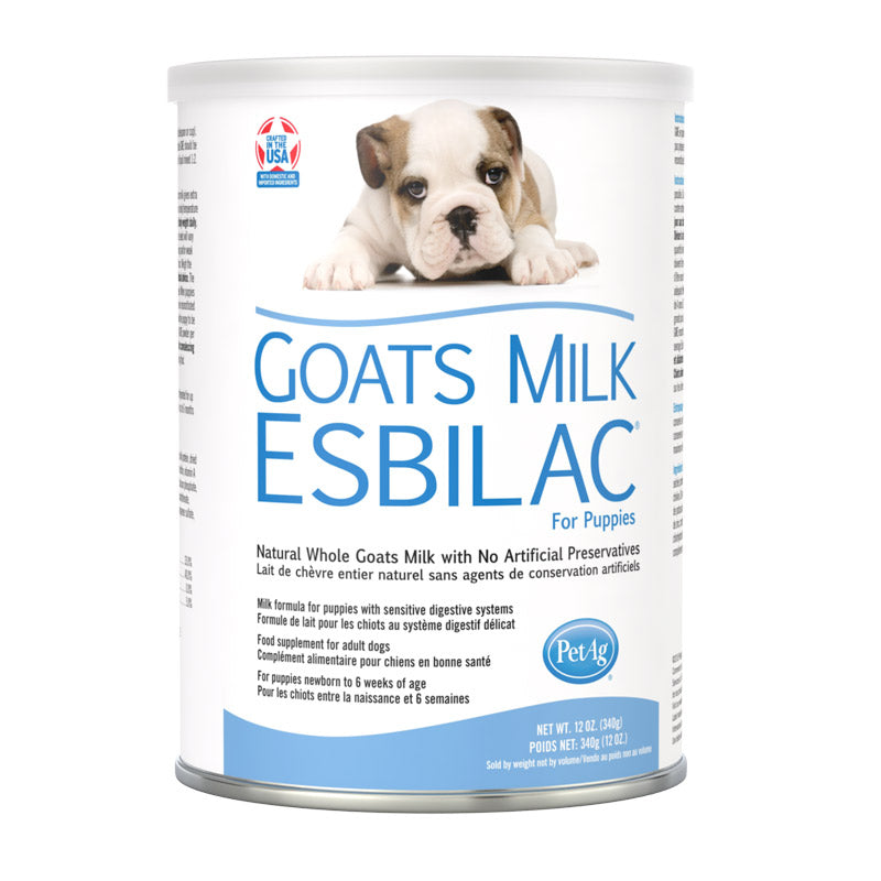 Pet Ag - Esbilac Goat Milk PUPPY 340 gram with free 2 OZ Nursing KIT
