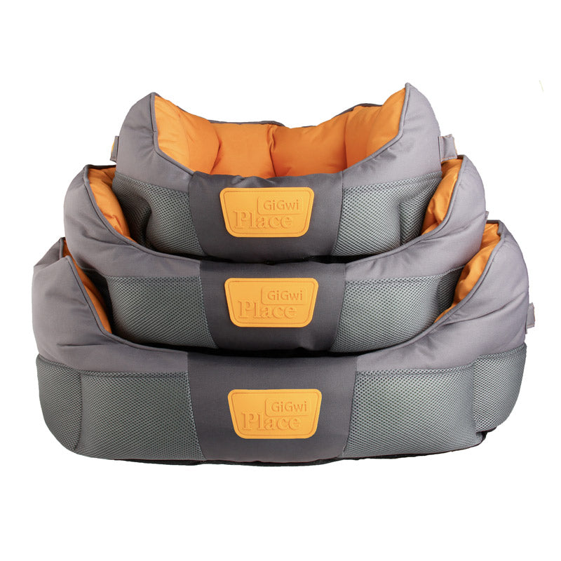 GiGwi Place - Soft Bed Canvas TPR (Gray & Orange)