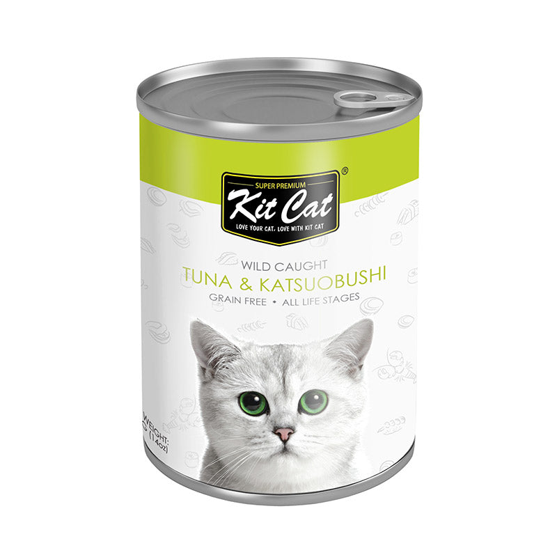 Kit Cat - Wild Caught Tuna with Katsuobushi Canned Cat Food (400g)