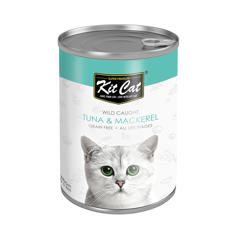 Kit Cat - Wild Caught Tuna with Mackerel Canned Cat Food (400g)