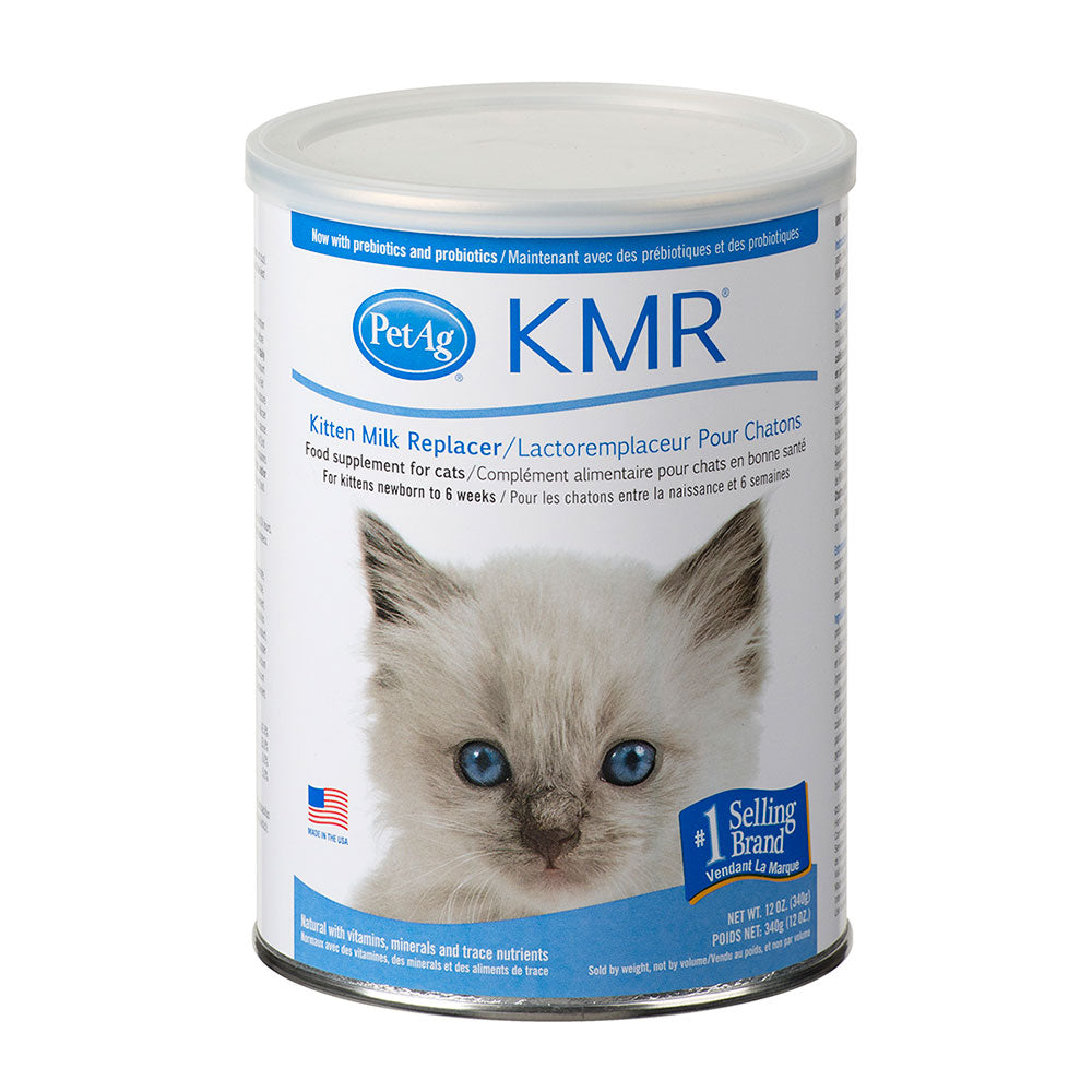 Pet Ag - KMR Instant Powder KITTEN 340 gram with free 2 OZ Nursing kit