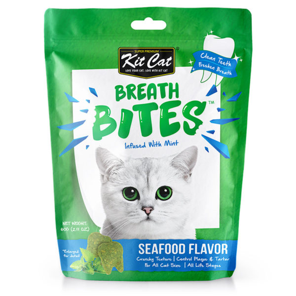 Kit Cat - Breath Bites Seafoods Flavor (60g)