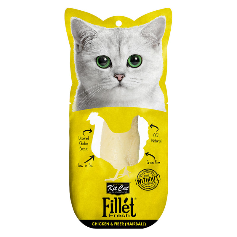 Kit Cat - Fillet Fresh Chicken and Fiber (Hairball)