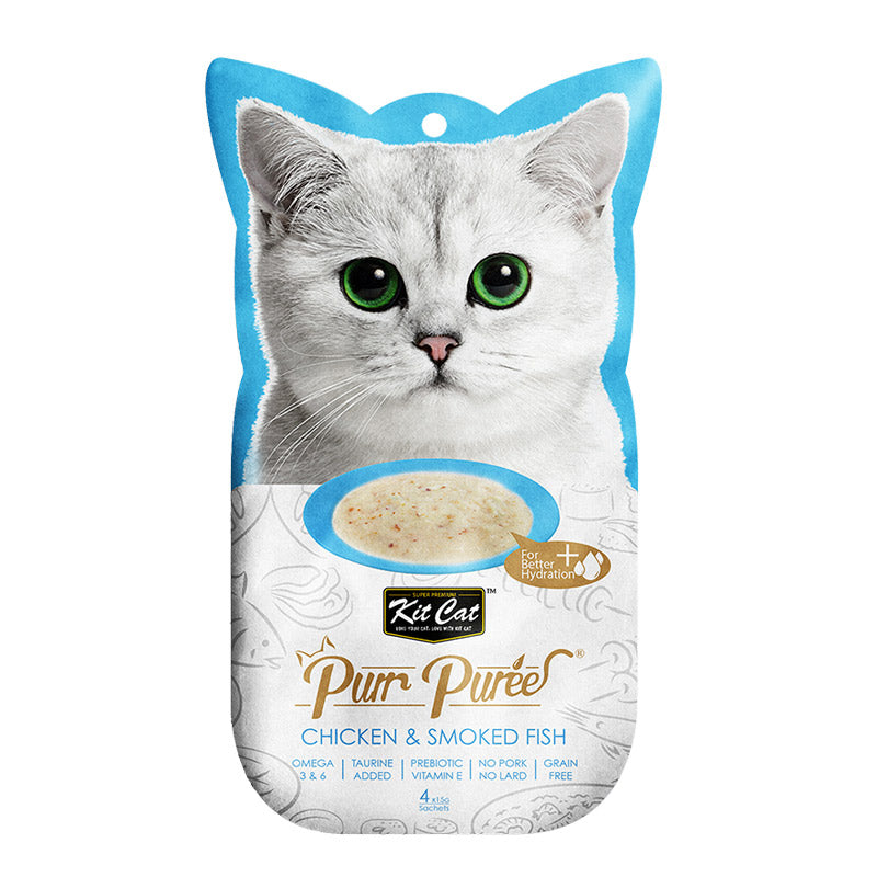 Kit Cat - Purr Puree Chicken & Smoked Fish