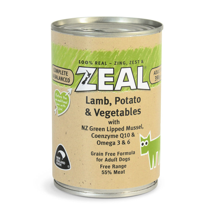Zeal – Lamb, Potato & Vegetables(390g)