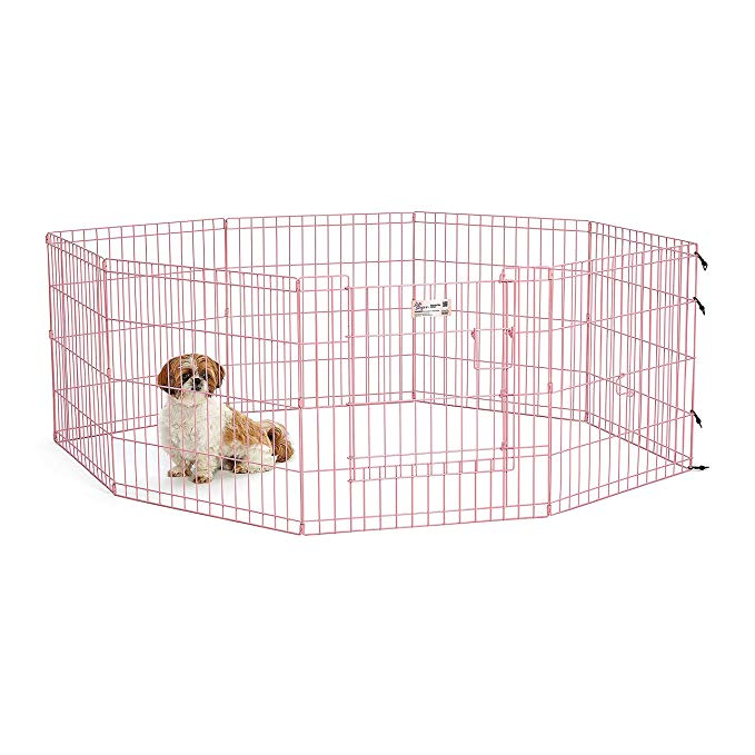 MidWest Blue Exercise Pen with Door 24″