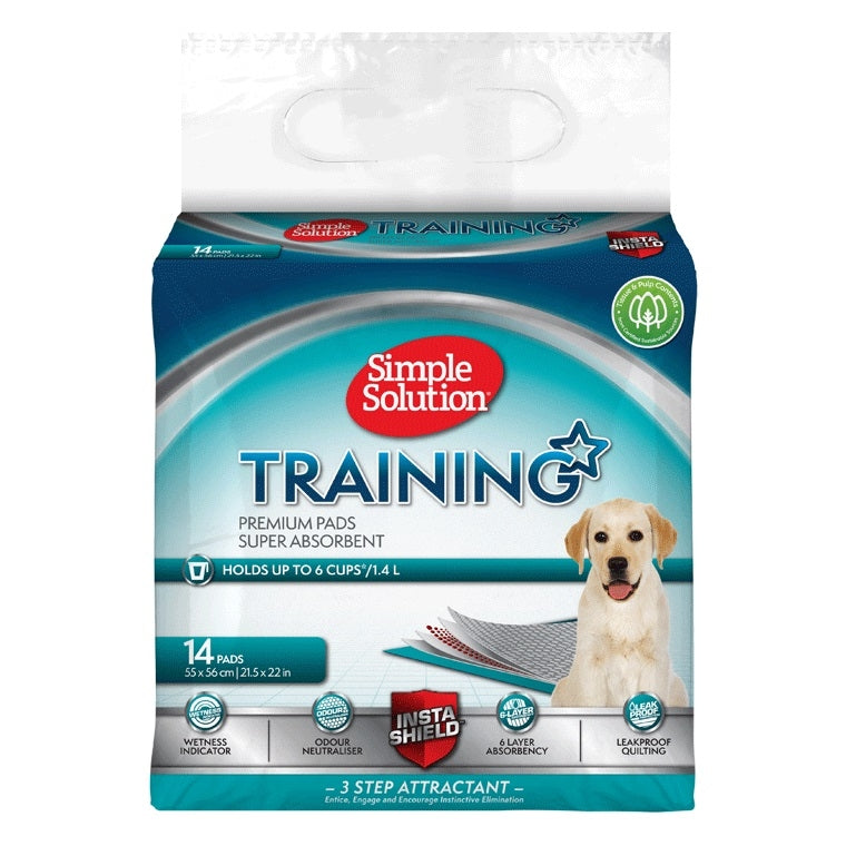 Simple Solution - Premium Dog and Puppy Training Pads (14 Pads)