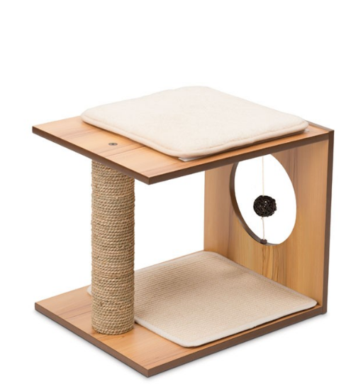 Vesper - Premium Cat Furniture V-Stool Walnut