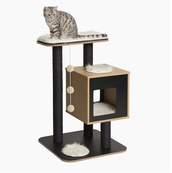 Vesper - Premium Cat Furniture V-Base  Black
