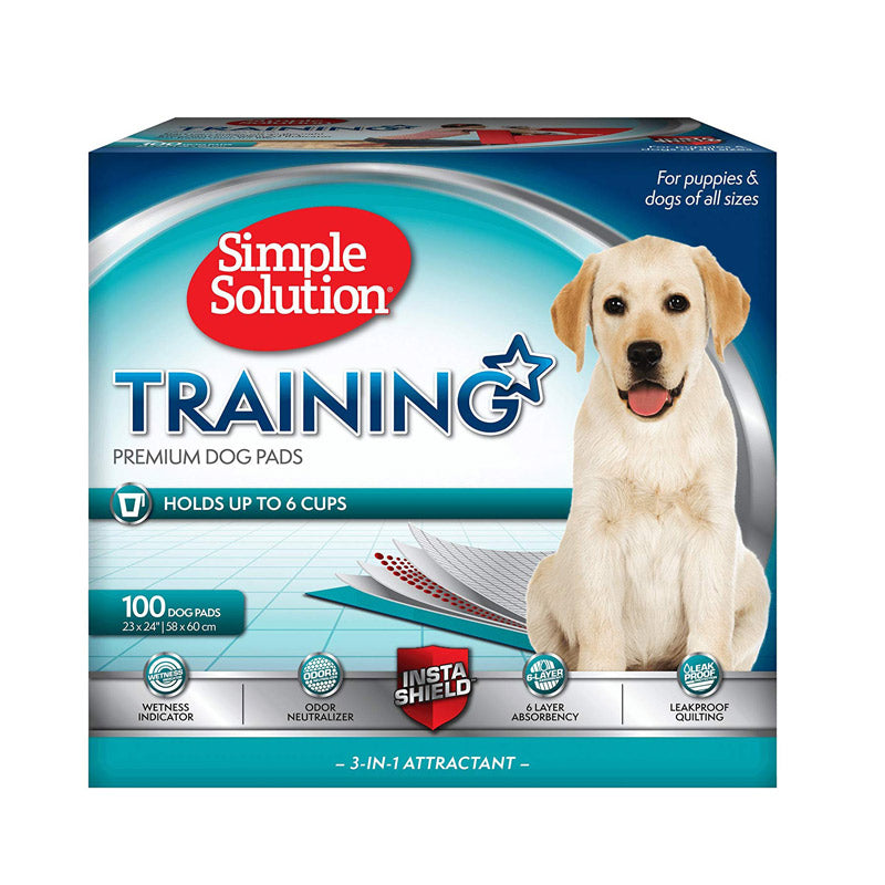 Simple Solution - Premium Dog and Puppy Training Pads (100 Pads)