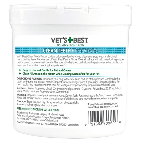 Vet's Best - Clean Teeth Finger Pads (50 Pads)