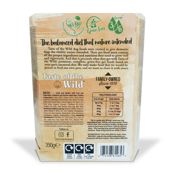 Taste of the Wild - Dog Wet Food LAMB Fruit & Veg Tray