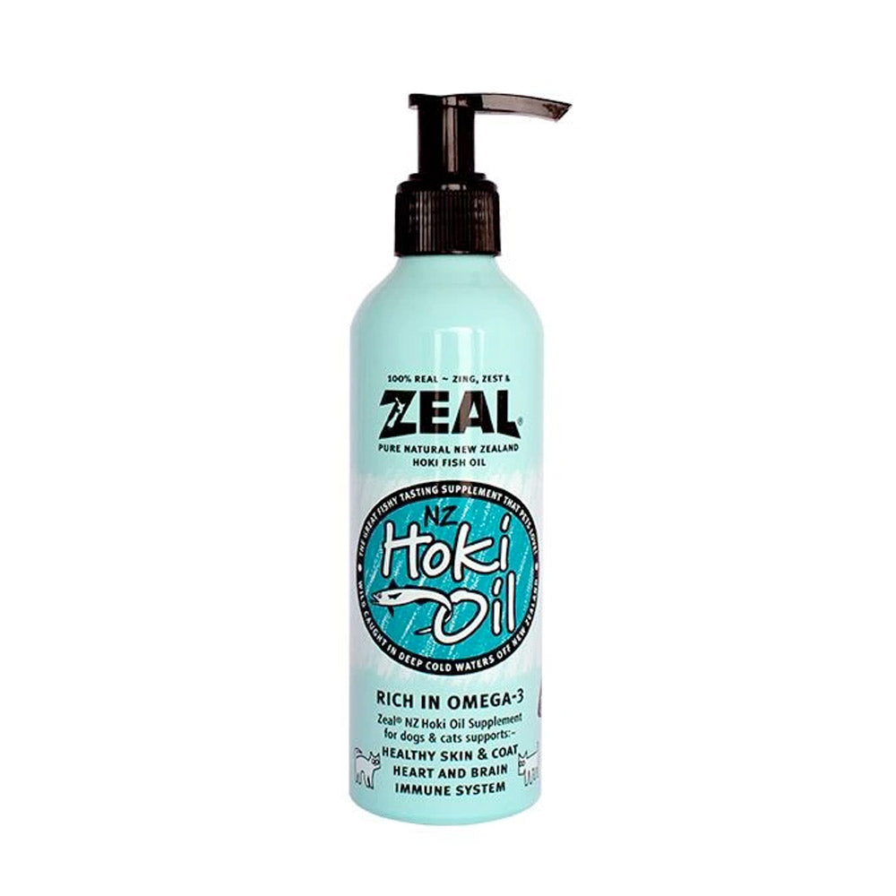 Zeal - Natural Hoki Fish Oil Supplement for Cats & Dogs (225ml)