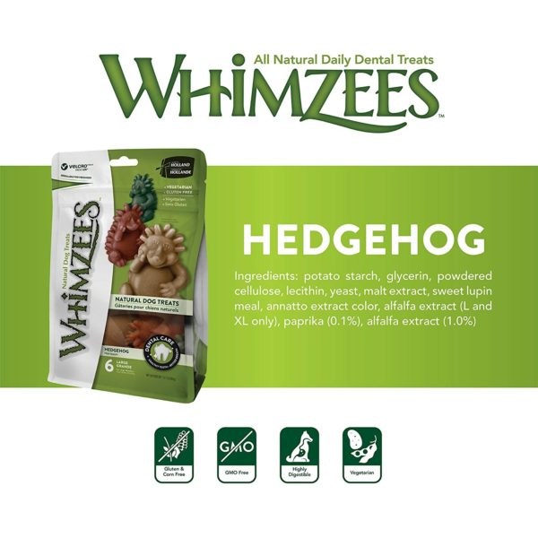 Whimzees - Hedgehog Large Mix Brown / Green / Orange (1pc)