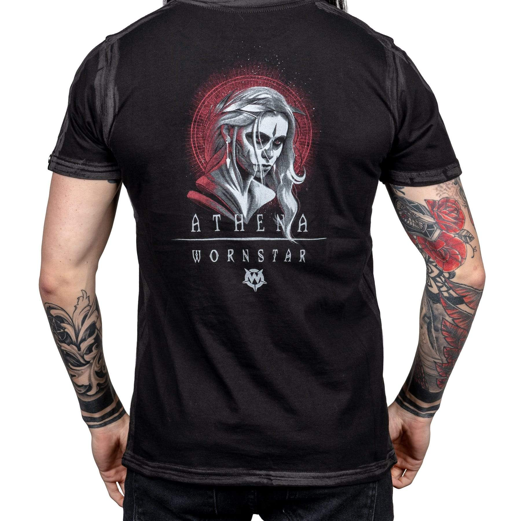 Wornstar Clothing Athena tee with printed catrina girl sugar skull graphic.