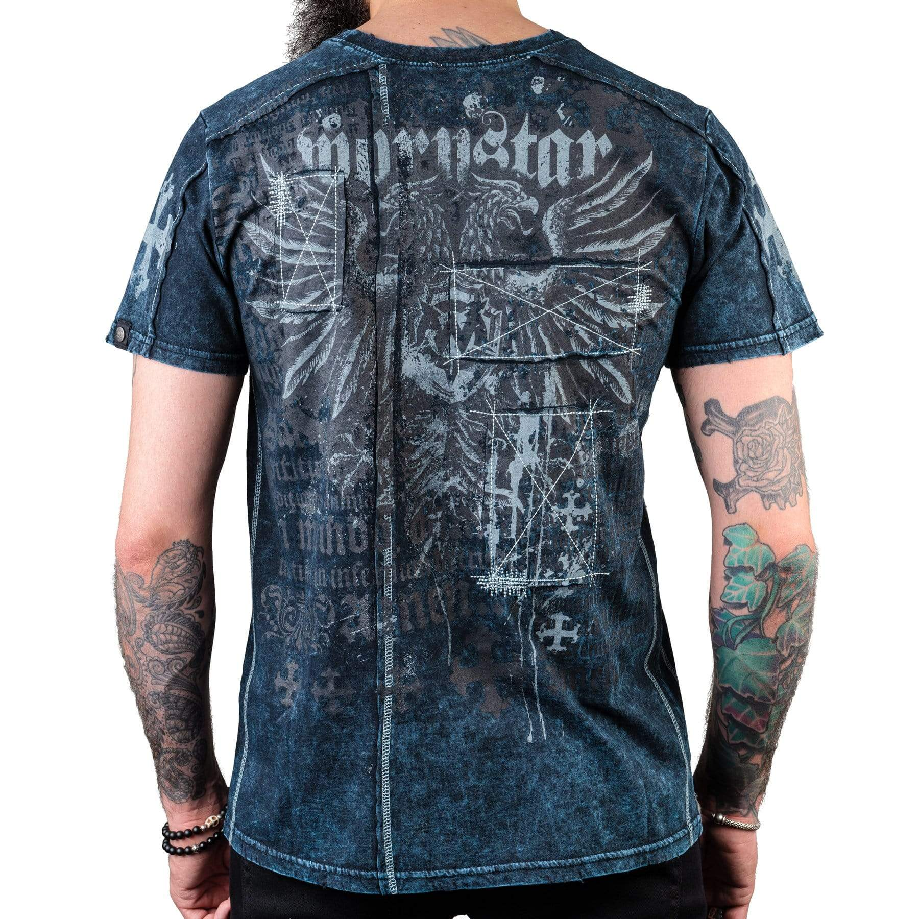 Wornstar Clothing Legion tee with printed eagle graphic.