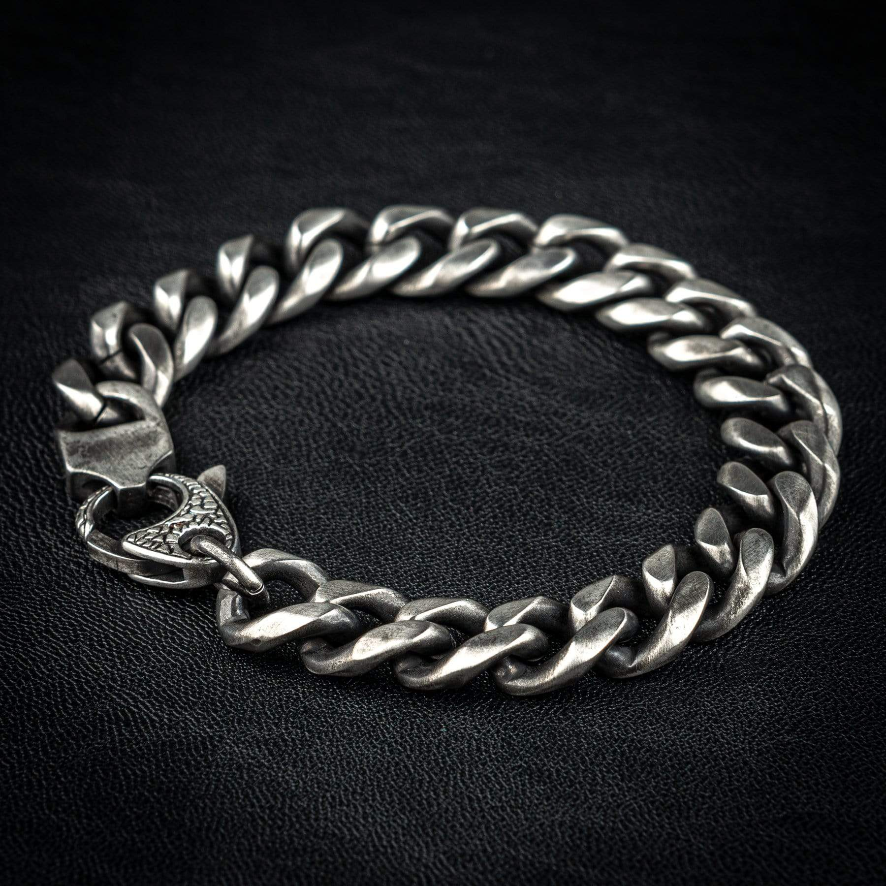 Wornstar Clothing Derelict stainless steel chain bracelet with lobster claw closure.