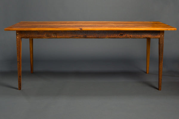 Antique Heart Pine Signature Farm Table