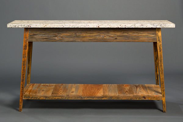 Stone Top Console With Shelf