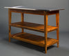 Island, Stainless Steel top Kitchen Island / Server with 2 Shelves
