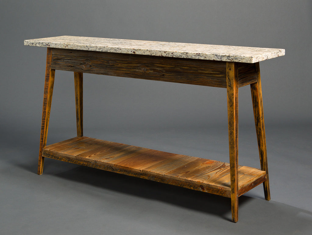 Stone top console with shelf landrum tables stone top console with shelf geotapseo Gallery