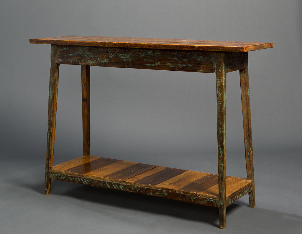 Heart pine console table with shelf landrum tables heart pine console table with shelf geotapseo Gallery