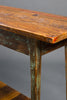 Heart Pine Console Table with Shelf