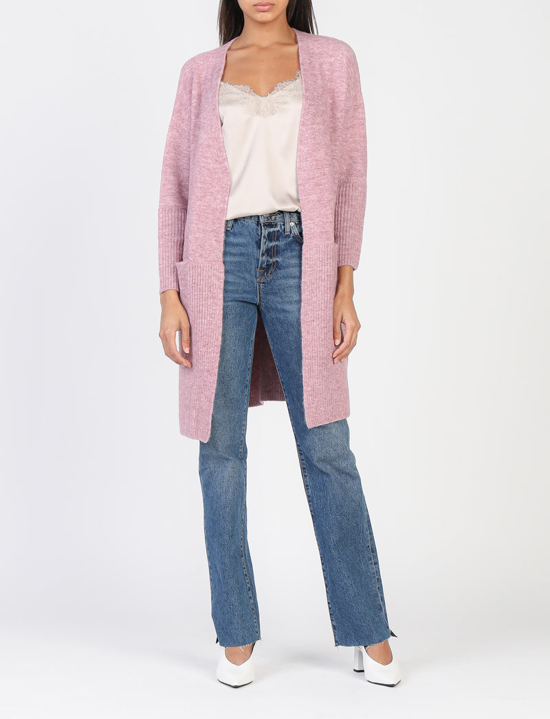 Dusty Pink Boyfriend Cardigan