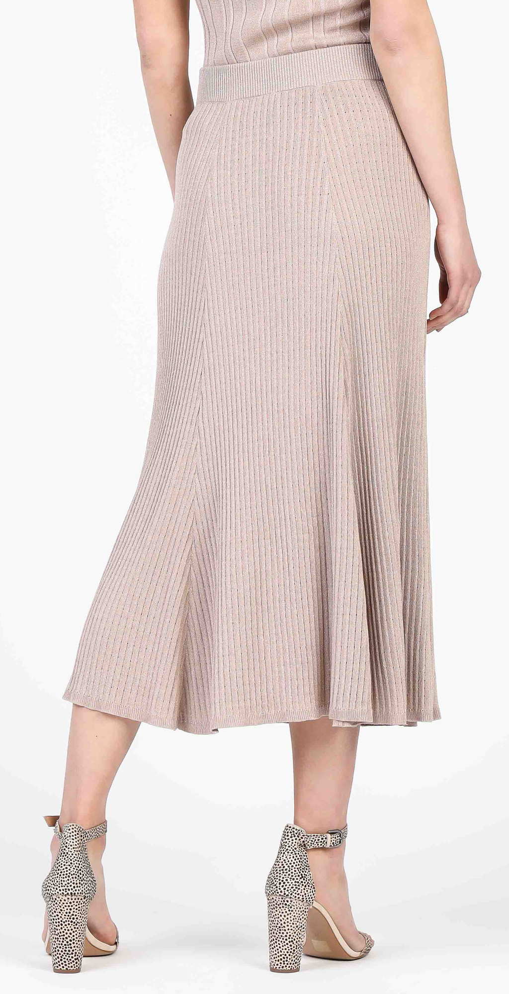 Sparkle Midi Sweater Skirt