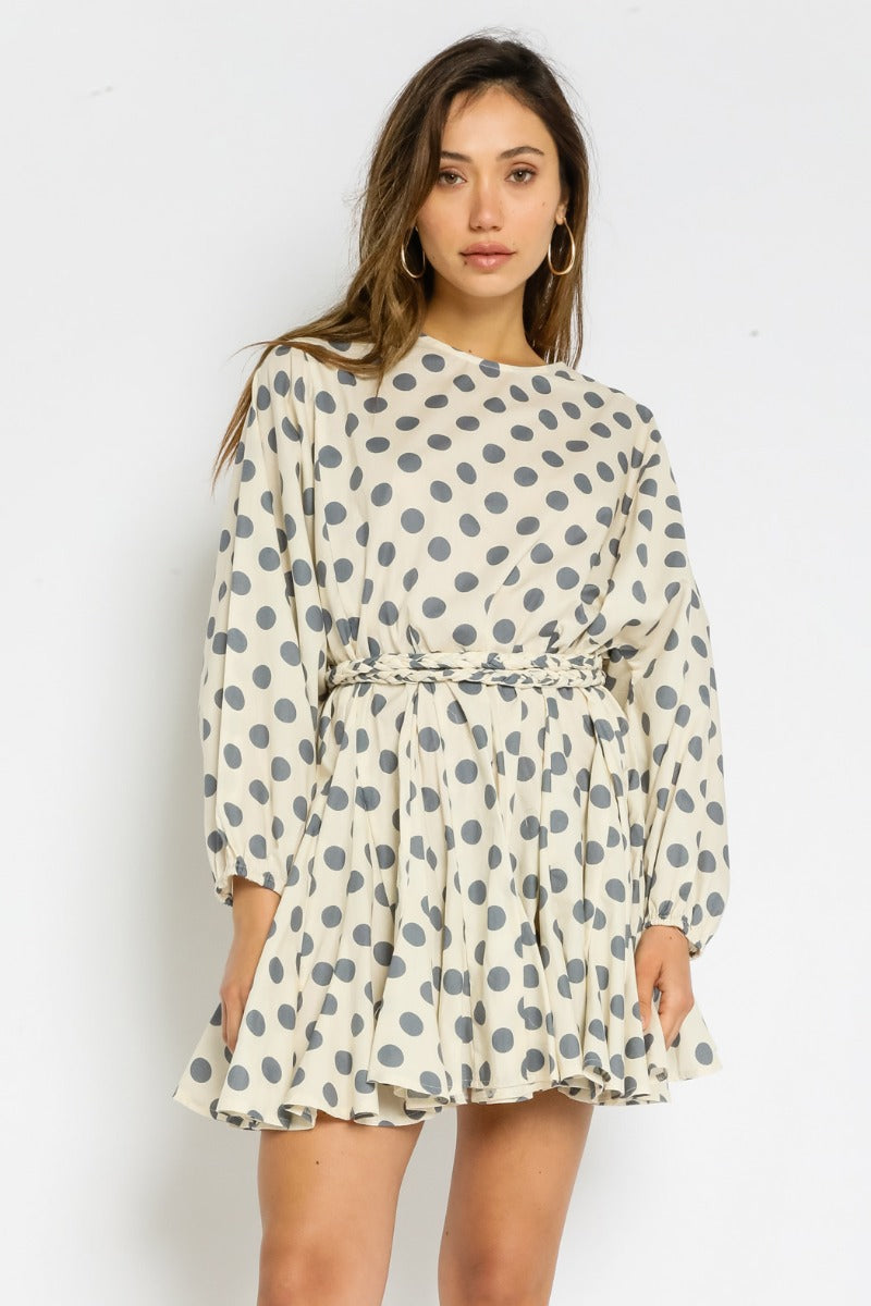 Polka Dot Belt Dress