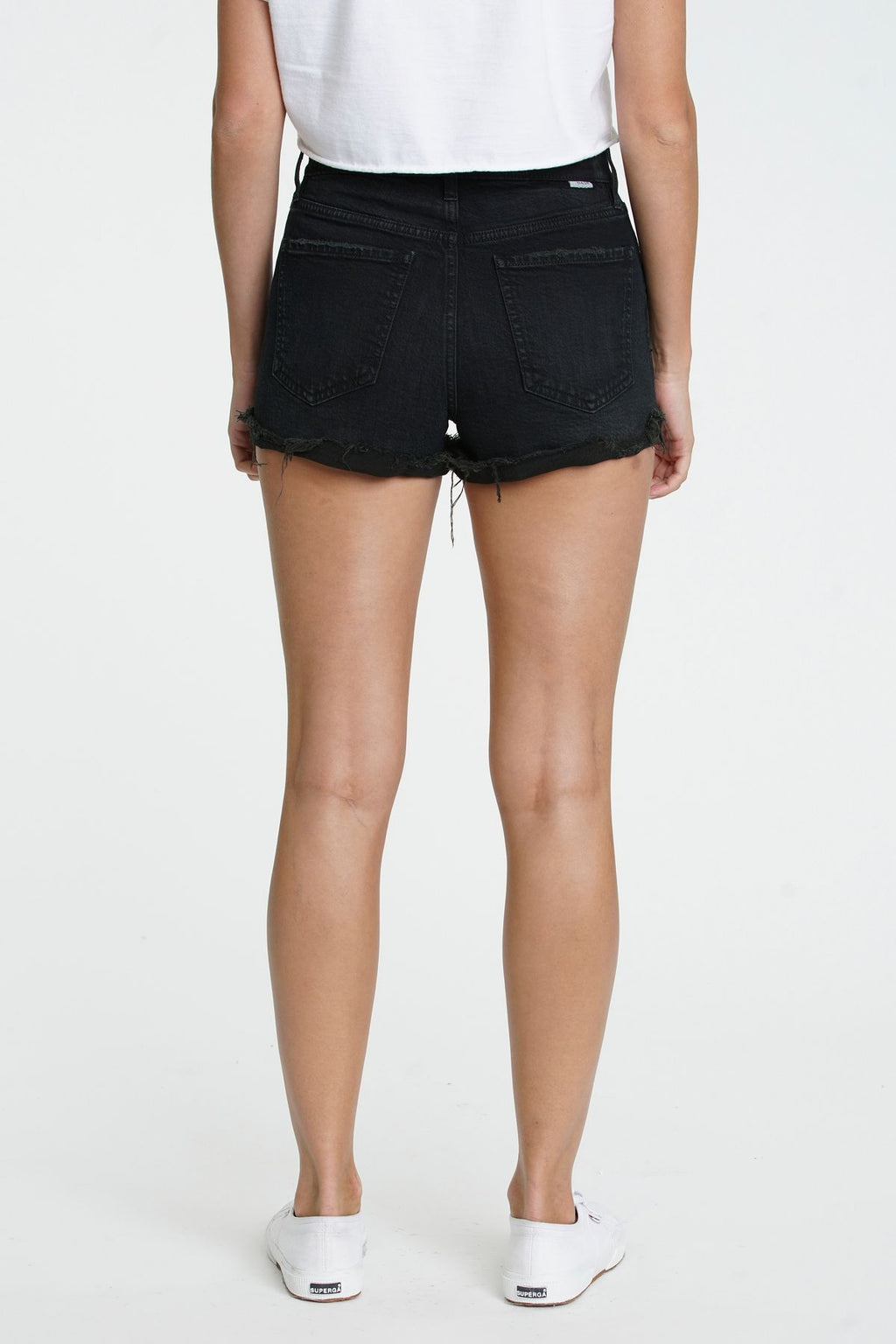 Black Backseat Denim Short