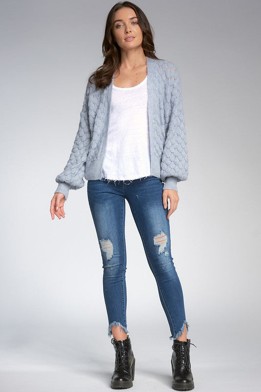Baby Blue Open Cardigan