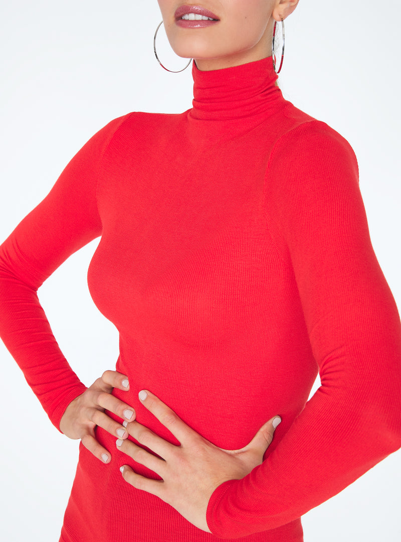Ribbed Fitted Turtleneck