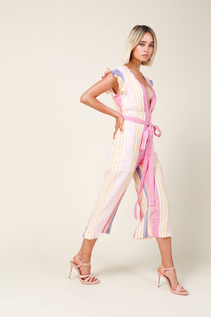 Bright Stripe Jumpsuit