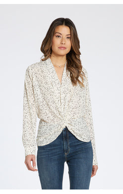 Polka Dot Twist Blouse